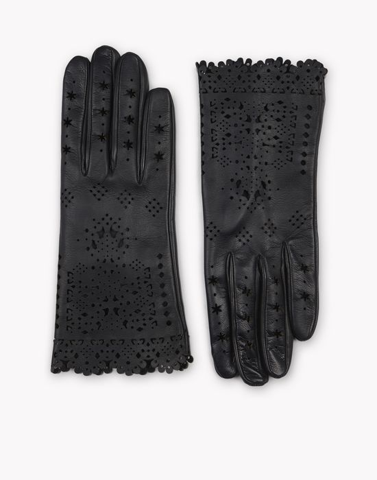 laced leather gloves other accessories Woman Dsquared2