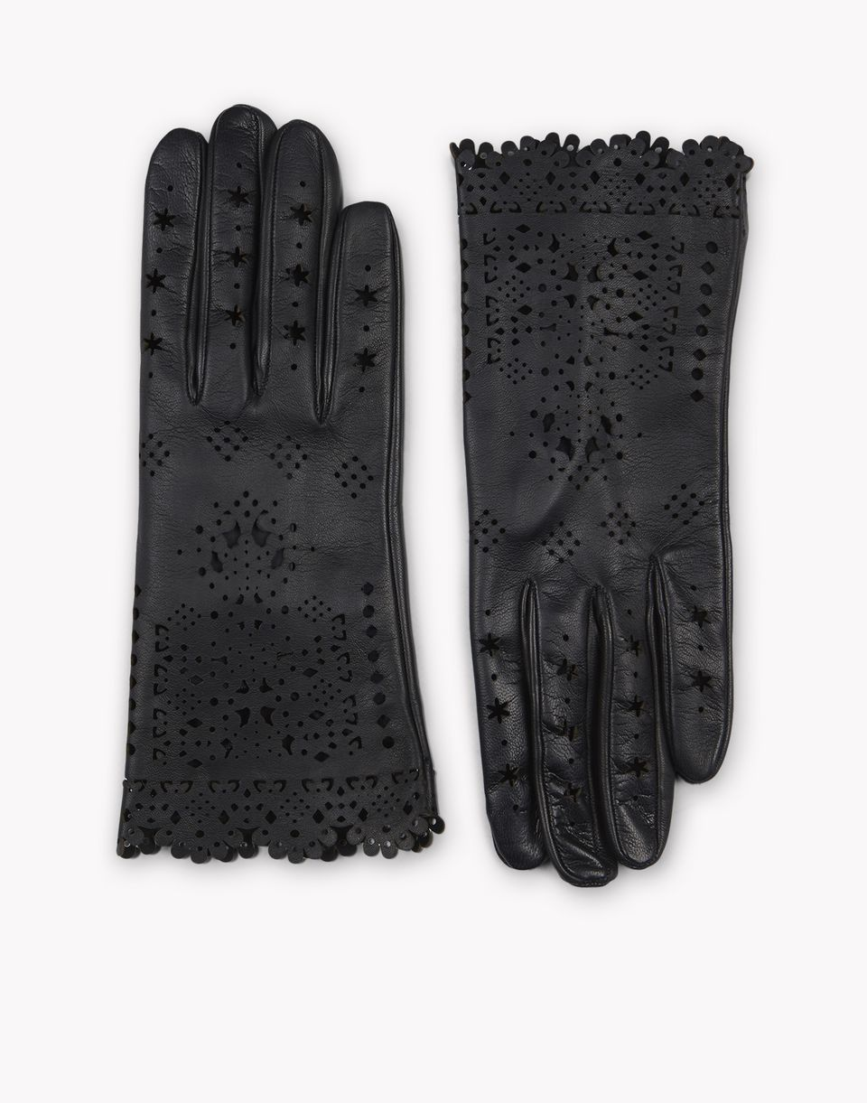 laced leather gloves weitere accessoires Damen Dsquared2