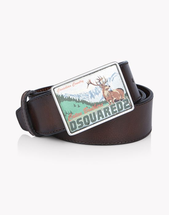 leather d2 mountain buckle belt belts Man Dsquared2