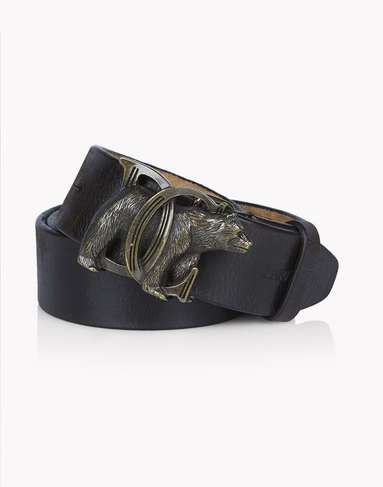dc bear leather belt cinturones Hombre Dsquared2