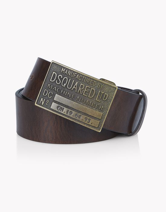 leather d2 metal buckle belt gürtel  Herren Dsquared2