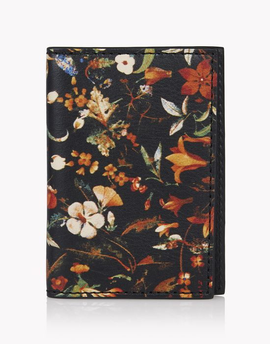 floral leather credit card holder other accessories Man Dsquared2