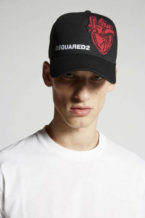 heart patch baseball cap complementos Hombre Dsquared2