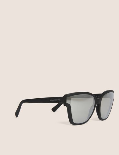 아르마니 익스체인지 Armani Exchange MIRROR MATTE MOD CAT-EYE SUNGLASSES,Light Grey