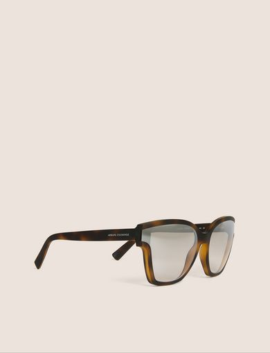 아르마니 익스체인지 Armani Exchange MOD TORTOISE CAT-EYE SUNGLASSES,Brown