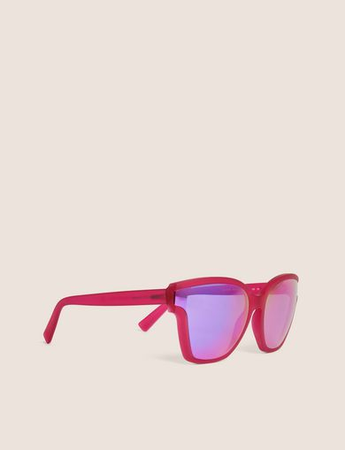 아르마니 익스체인지 Armani Exchange PURPLE MIRROR MOD CAT-EYE SUNGLASSES,Purple