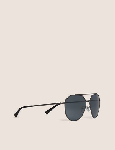 아르마니 익스체인지 Armani Exchange MIRRORED GEO AVIATOR SUNGLASSES,Light Grey
