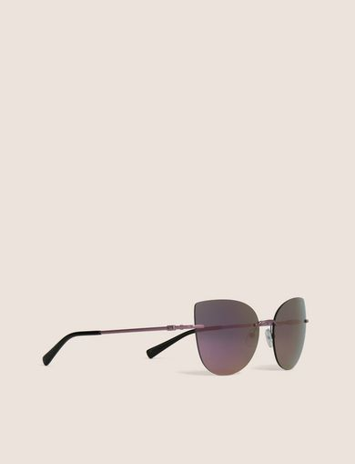 아르마니 익스체인지 Armani Exchange PINK MIRROR FRAMELESS CAT-EYE,Purple