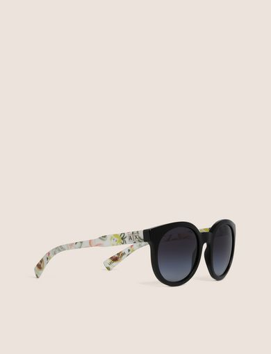 아르마니 익스체인지 Armani Exchange STREET ART SERIES LESJEANCLODE ROUND SUNGLASSES,Black