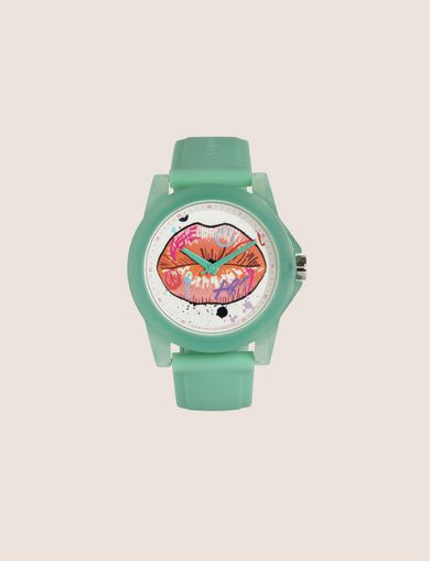 아르마니 익스체인지 Armani Exchange AX STREET ART SERIES LOX SLEEK WATCH,Mint Green