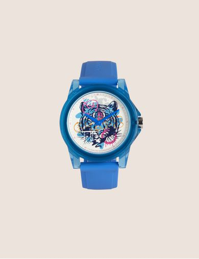 아르마니 익스체인지 Armani Exchange AX STREET ART SERIES ALEX LEHOURS SLEEK WATCH,Blue