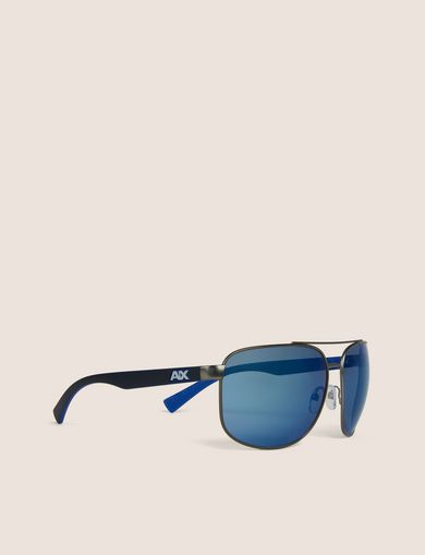 아르마니 익스체인지 Armani Exchange BLUE MIRROR SPORT AVIATOR,Blue