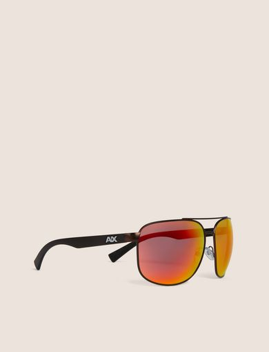 아르마니 익스체인지 Armani Exchange SUNRISE MIRROR SPORT AVIATOR,Dark Brown