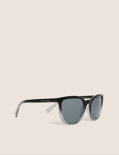 아르마니 익스체인지 Armani Exchange GREY OMBRE ROUNDED SUNGLASSES,Black