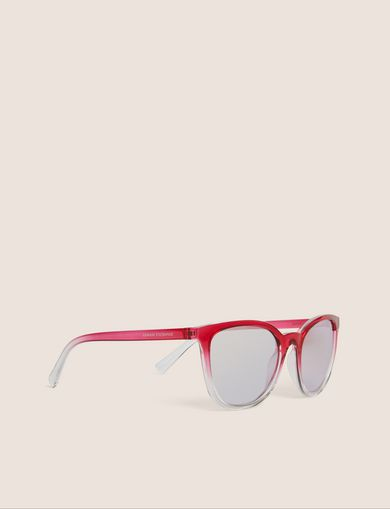 아르마니 익스체인지 Armani Exchange PINK OMBRE ROUNDED SUNGLASSES,Fuchsia