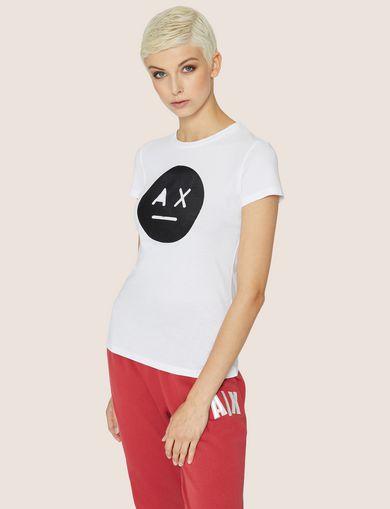 아르마니 익스체인지 Armani Exchange A X EMOJI LOGO TEE,White