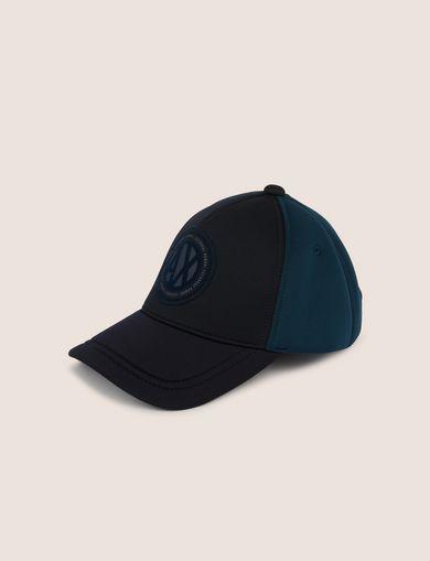 아르마니 익스체인지 Armani Exchange COLORBLOCK CIRCLE LOGO PATCH HAT,Navy Blue