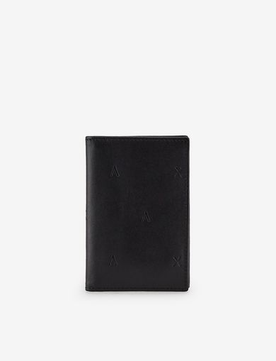 아르마니 익스체인지 Armani Exchange SCATTERED LOGO CARDCASE,Black