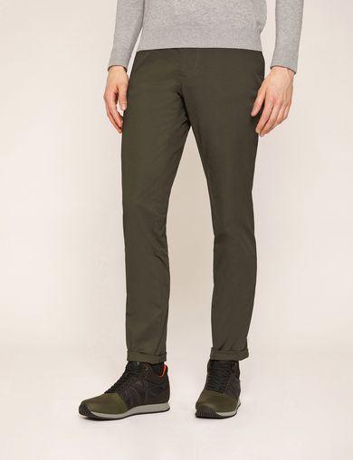 아르마니 익스체인지 Armani Exchange CLASSIC SLIM-FIT CHINO PANTS,Dark Green