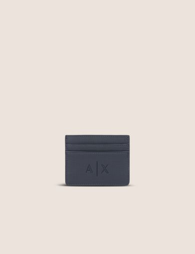 아르마니 익스체인지 Armani Exchange TEXTURED LOGO CARDCASE,Navy Blue