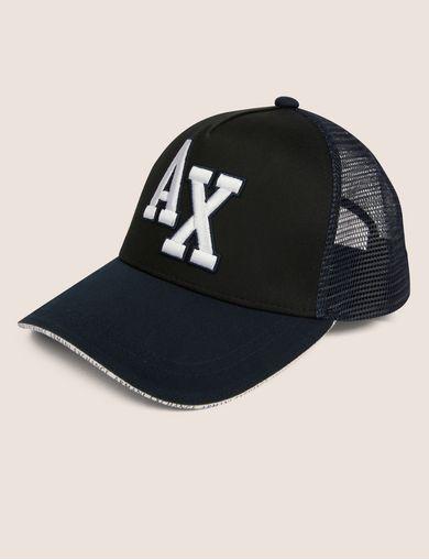 아르마니 익스체인지 Armani Exchange VARSITY LOGO MESH HAT,Black