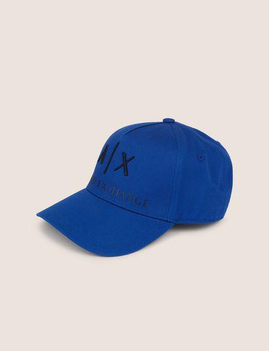 아르마니 익스체인지 Armani Exchange CLASSIC LOGO EMBROIDERY HAT,Blue