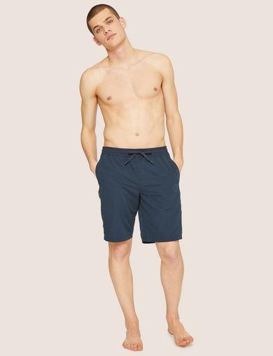 아르마니 익스체인지 Armani Exchange HIGH-SHINE LOGO TAPE SWIM SHORT,Navy Blue
