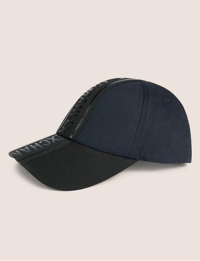 아르마니 익스체인지 Armani Exchange HIGH-SHINE LOGO TAPE HAT,Navy Blue