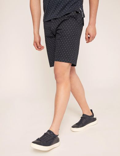 아르마니 익스체인지 반바지 Armani Exchange GEO CAMO PRINT SHORT,Navy Blue