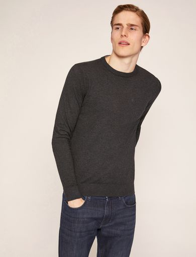 아르마니 익스체인지 Armani Exchange CLASSIC INSIGNIA CREWNECK SWEATER,Dark Grey