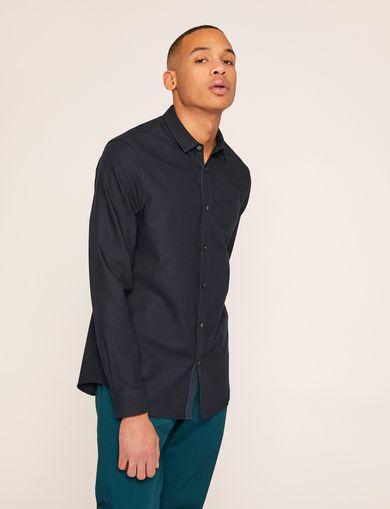 아르마니 익스체인지 Armani Exchange SLIM-FIT CLASSIC LOGO WHITE SHIRT,Dark Blue