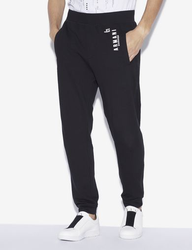 아르마니 익스체인지 Armani Exchange NYC LOGO PRINT SWEATPANT,Black