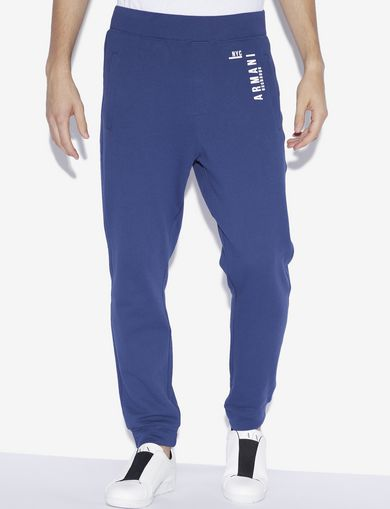 아르마니 익스체인지 Armani Exchange NYC LOGO PRINT SWEATPANT,Blue