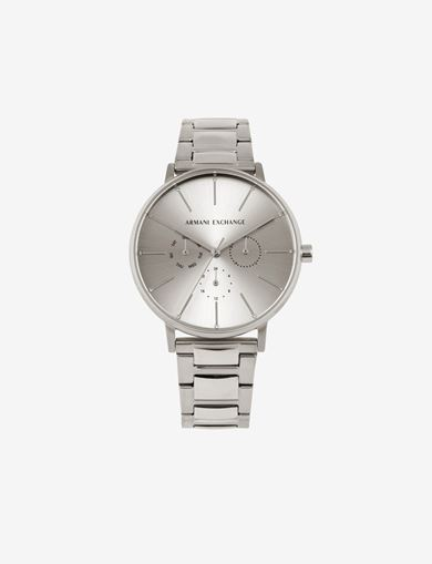 아르마니 익스체인지 Armani Exchange CHRONOGRAPH STAINLESS STEEL BRACELET WATCH,Silver