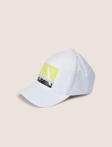 아르마니 익스체인지 Armani Exchange BOXED COLORBLOCK LOGO HAT,White