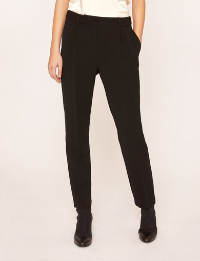 아르마니 익스체인지 Armani Exchange FINISHED WAIST PLEATED TROUSER,Black