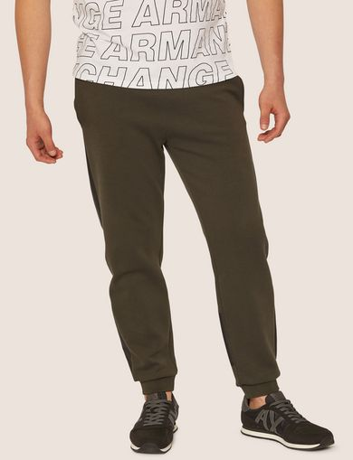 아르마니 익스체인지 Armani Exchange LOGO PRINT SIDE-STRIPE SWEATPANT,Dark Green