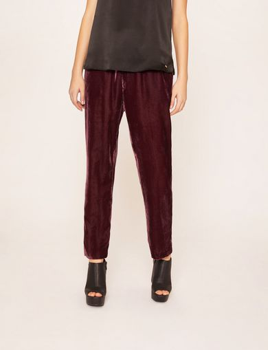 아르마니 익스체인지 Armani Exchange DRAWSTRING VELVET PANT,Wine