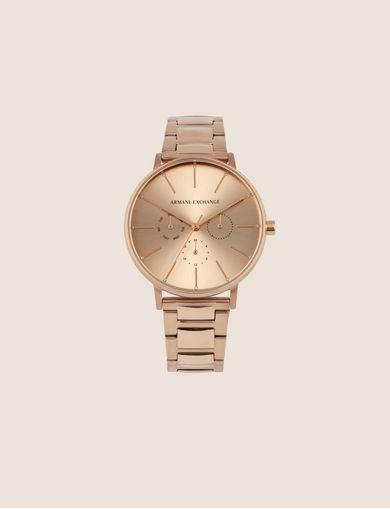 아르마니 익스체인지 Armani Exchange CHRONOGRAPH ROSE GOLD-TONED BRACELET WATCH,Copper