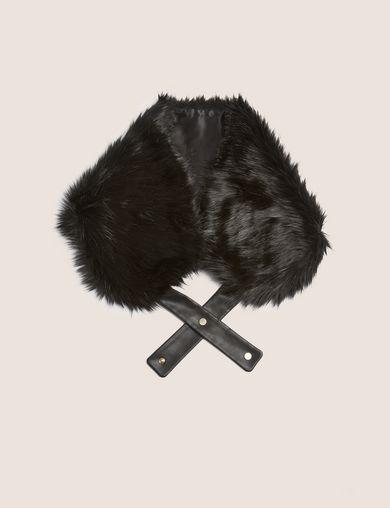 아르마니 익스체인지 Armani Exchange FAUX-FUR WRAP COLLAR,Black
