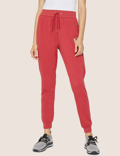 아르마니 익스체인지 Armani Exchange METALLIC APPLIQUE SWEATPANT,Red