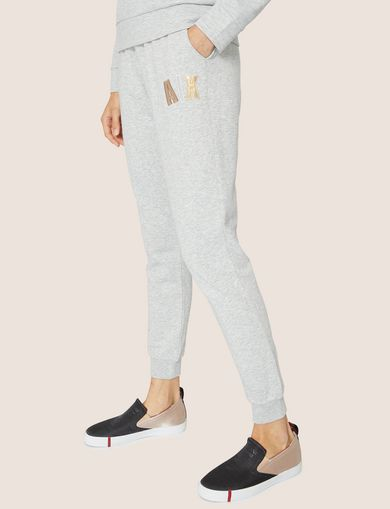 아르마니 익스체인지 Armani Exchange METALLIC APPLIQUE SWEATPANT,Grey