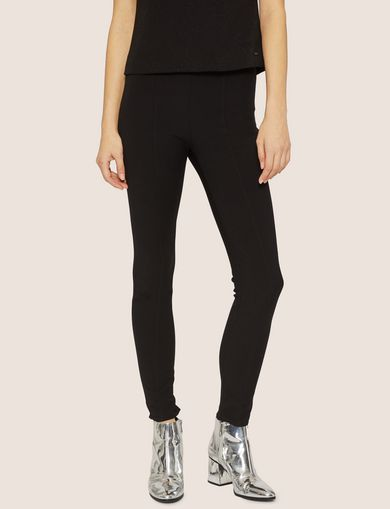 아르마니 익스체인지 Armani Exchange ZIP CUFF SEAMED LEGGING,Black