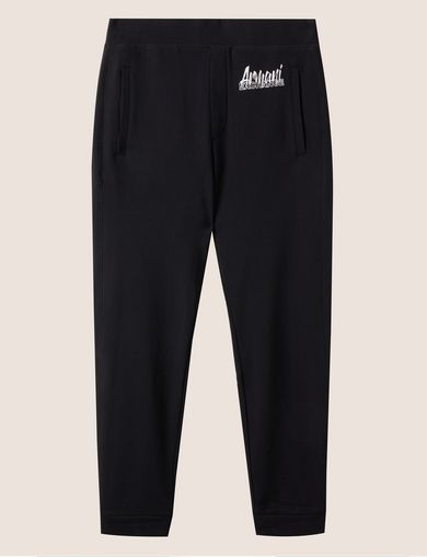 아르마니 익스체인지 Armani Exchange PAINT SCRIPT LOGO SWEATPANT,Black