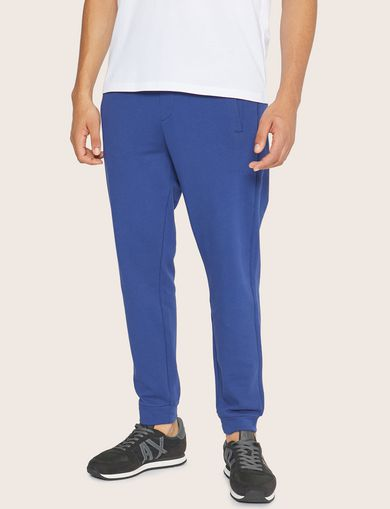 아르마니 익스체인지 Armani Exchange PAINT SCRIPT LOGO SWEATPANT,Electric Blue