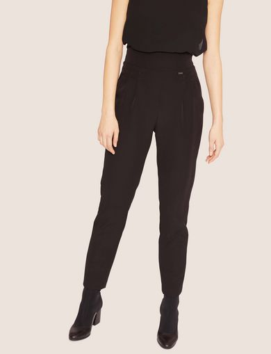 아르마니 익스체인지 Armani Exchange HIGH-RISE PLEATED TROUSER,Black