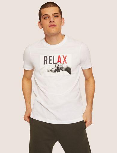 아르마니 익스체인지 Armani Exchange REGULAR-FIT RELAX CREW,White