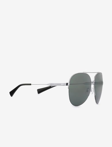 아르마니 익스체인지 Armani Exchange GREEN LENS AVIATOR SUNGLASSES,Green