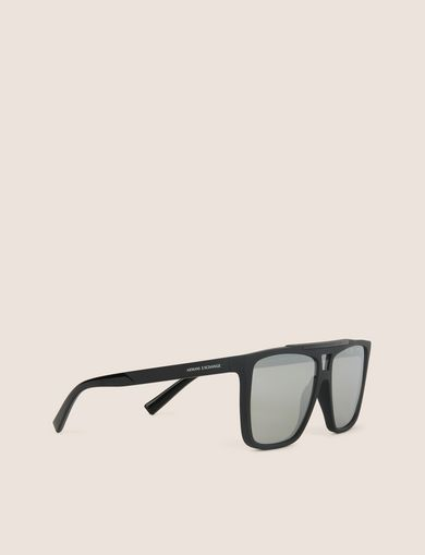 아르마니 익스체인지 선글라스 Armani Exchange SILVER MIRRORED MODIFIED AVIATOR,Light Grey