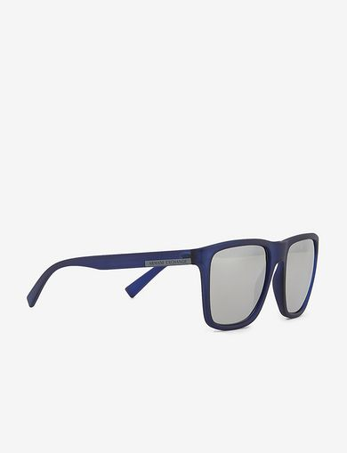 아르마니 익스체인지 Armani Exchange TRANSLUCENT BLUE CLASSIC SUNGLASSES,Black